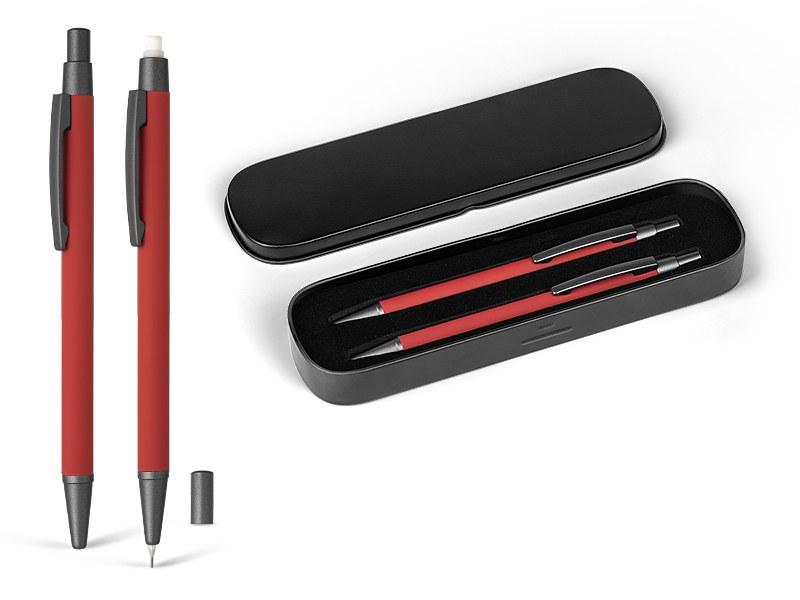 Metalna tehnička i hemijska olovka u setu